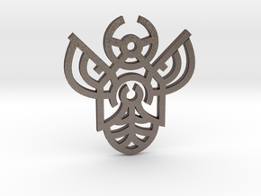 Bee / Abeja in Polished Bronzed Silver Steel