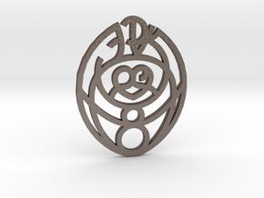 Passion Cosmic Egg / Huevo cósmico de la Pasión in Polished Bronzed Silver Steel