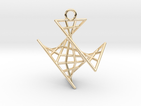 crux_pendant (small) in 14K Yellow Gold