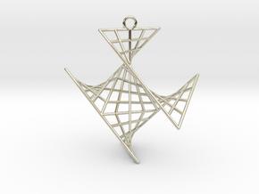 crux_pendant (medium) in 14k White Gold