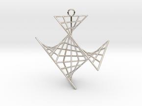 crux_pendant (medium) in Platinum