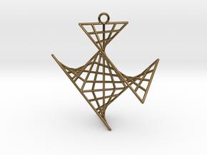 crux_pendant (medium) in Polished Bronze