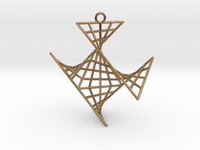 crux_pendant (medium) in Natural Brass