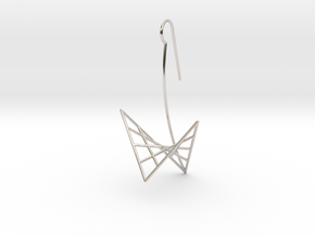 swan (large) in Rhodium Plated Brass