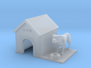 Doghouse With Dog - HO 87:1 Scale in Frosted Ultra Detail