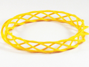 Twist Bangle A03L in Yellow Processed Versatile Plastic
