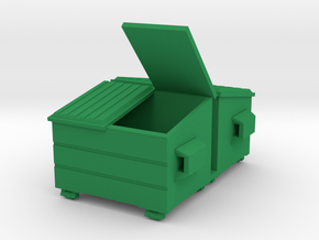Dumpster (2) Mixed - HO 87:1 Scale in Green Processed Versatile Plastic