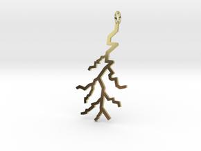 Lightning Pendant (Large) in 18k Gold Plated Brass