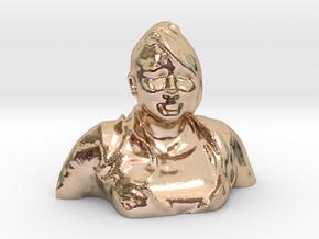 HUGE PRISCILLA HEAD in 14k Rose Gold Plated Brass