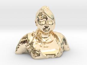 HUGE PRISCILLA HEAD in 14K Yellow Gold