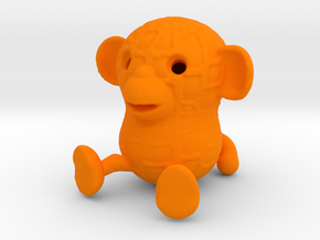 Peanutmonkey in Orange Strong & Flexible Polished