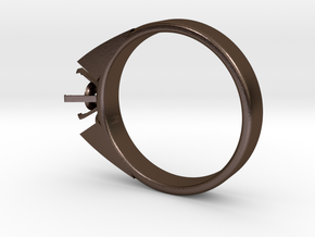 Alessa Design Ring For Diamond Ø17.83mm (Ø6mm New  in Polished Bronze Steel