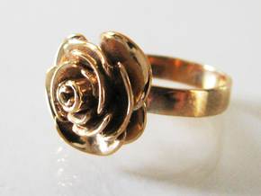 Rose Ring (multiple sizes) in Polished Bronze