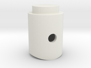 Vader ROTJ D-ring Holder 0.45 scale in White Natural Versatile Plastic