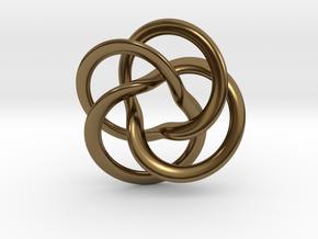 Toroid pendant four leaf in Polished Bronze