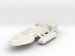 BattleHvyCruiser II in White Strong & Flexible