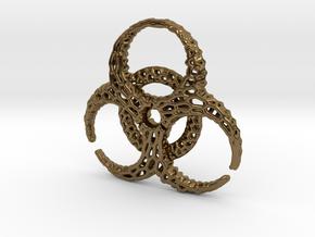 BioHazard Pendant in Polished Bronze