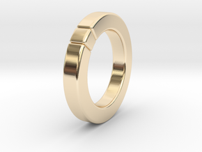 Caleb - Cubeamond Ring in 14k Gold Plated Brass: 6.75 / 53.375