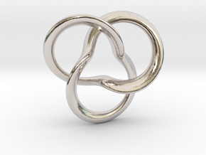 clover Knot in Rhodium Plated Brass