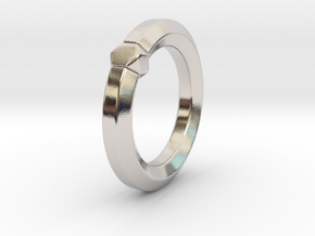 Hea - Ring - US 6.75 - 17.12 mm in Rhodium Plated Brass: 6.75 / 53.375