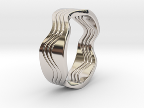 Dave - Ring - US 6¾ - 17.12mm in Rhodium Plated Brass