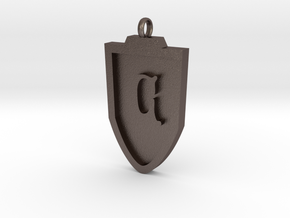Medieval C Shield Pendant in Stainless Steel