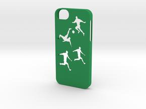 Iphone 5/5s soccer case in Green Processed Versatile Plastic