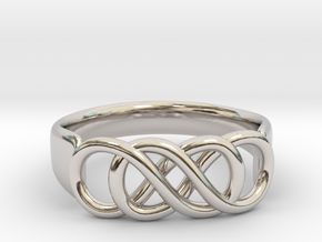 Double Infinity Ring 22.2mm V2 in Platinum