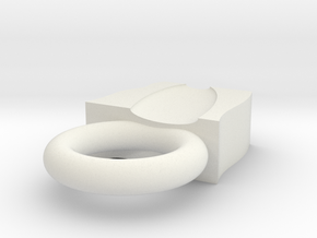 Ring Final in White Natural Versatile Plastic