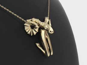 Aries Zodiac Pendant in 14k Gold Plated Brass