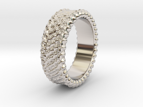 Elisa - Ring - US 6¾ - 17.12mm in Rhodium Plated Brass