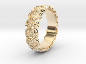 Daisy - Ring in 14k Gold Plated Brass: 6.75 / 53.375