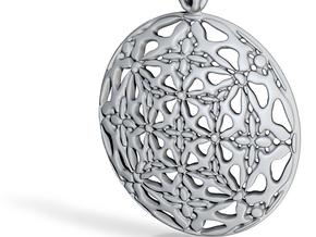 PA Medalion V2fSE65D36h4 in Fine Detail Polished Silver