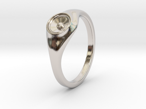Liza - Ring - US 6¾ - 17.12mm in Rhodium Plated Brass