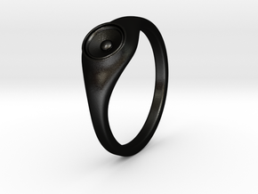 Liza - Ring - US 6¾ - 17.12mm in Matte Black Steel
