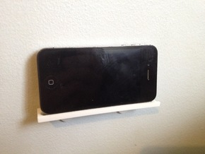 Wall Mount for IPhone (4S) in White Natural Versatile Plastic