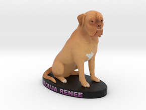 Custom Dog Figurine - Rouja in Full Color Sandstone