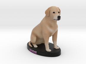 Custom Dog Figurine - Bodie in Full Color Sandstone