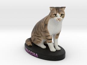 Custom Cat Figurine - Maccha in Full Color Sandstone