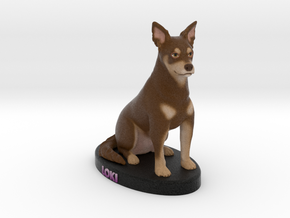Custom Dog Figurine - Loki in Full Color Sandstone