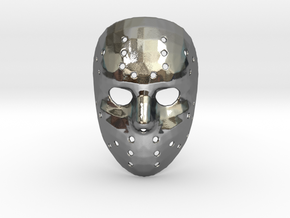 Jason Voorhees Mask (Small) in Polished Silver