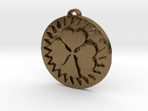Heart Shamrock in Natural Bronze