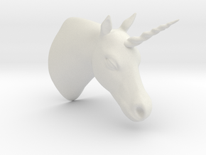 Unicorn Bust in White Strong & Flexible