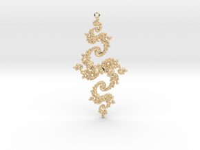 Julia Pendant 1 MP2 in 14k Gold Plated Brass