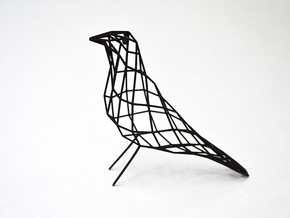 birdy - small (h:11cm/4.2In) in Black Strong & Flexible