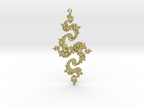 Julia Pendant 1 XHP in 18k Gold Plated Brass