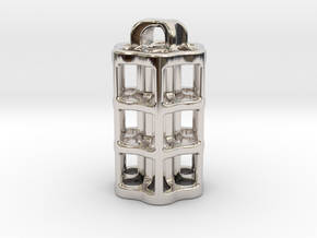 Tritium Lantern 5B (3x22.5mm Vials) in Rhodium Plated Brass