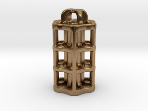 Tritium Lantern 5B (3x22.5mm Vials) in Natural Brass