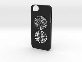 iphone 5/5s celtic case in Black Natural Versatile Plastic