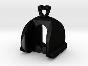 I♥U Shape 2 - LP1 in Matte Black Steel